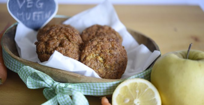 Muffin vegan mela e carota