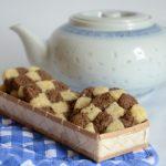 Biscotti a scacchi cacao e vaniglia