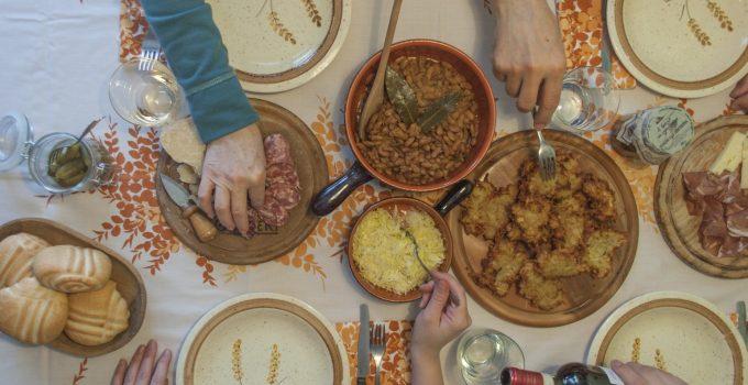 Tortel  di patate e fasoi embragai