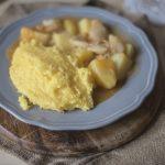 Baccalà con patate e polenta