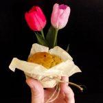Cupcakes con colomba e fragole