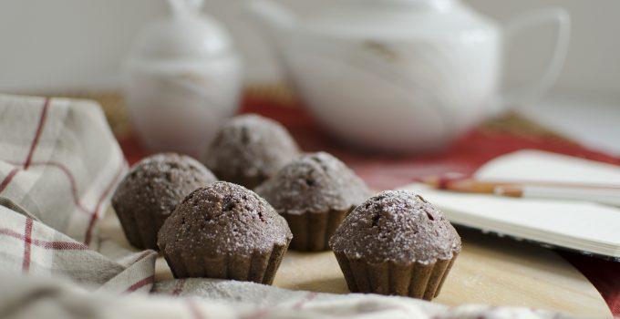 Muffin al cacao e tè