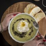 Crema di broccolo di Torbole con tartufo e uovo in camicia