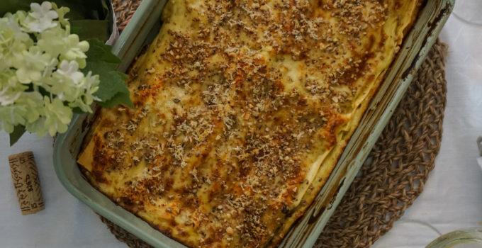Lasagne primaverili con asparagi e burrata