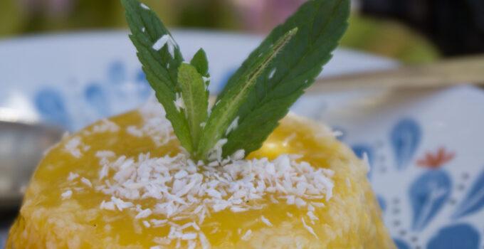 Budino al mango e cocco
