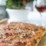 Pizza morbida in teglia
